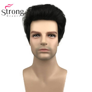 Image 2 - StrongBeauty Black Short Mens Wigs Synthetic Full Wig for Men