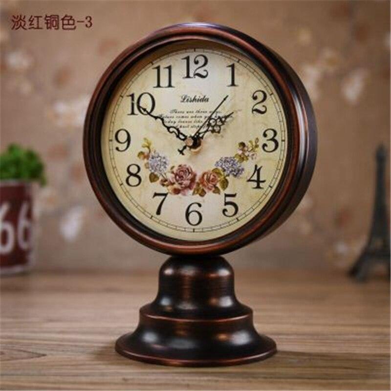 Horloge de Table Vintage horloge de bureau numérique-montre reloj staat horloges désespoir tador ameublement muet moderne décor à la maison Bronze