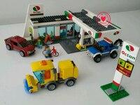 2018 Thành Phố Mới khu vực Dịch Vụ trạm xăng Khối Xây Dựng Mô Hình gạch Toy trẻ em 61032 tương thích legoes trẻ em món quà thiết thành phố trai