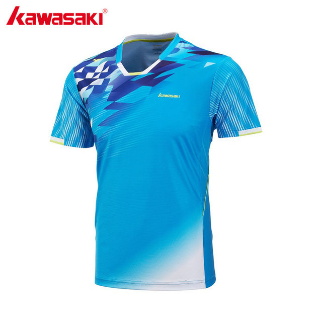 7b3282cd14359 Kawasaki ropa para hombres profesional Bádminton Camisetas transpirable  rápido seco Tenis Camiseta deportiva alta calidad st