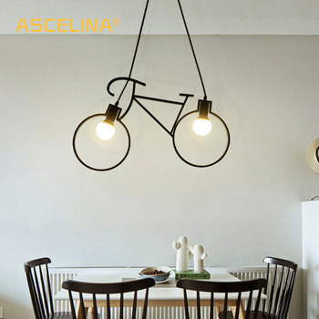 Vintage อุตสาหกรรมจี้ไฟจักรยานจี้เด็ก Creative Loft แขวนโคมไฟร้านอาหาร Cafe ตกแต่งห้องนั่งเล่น
