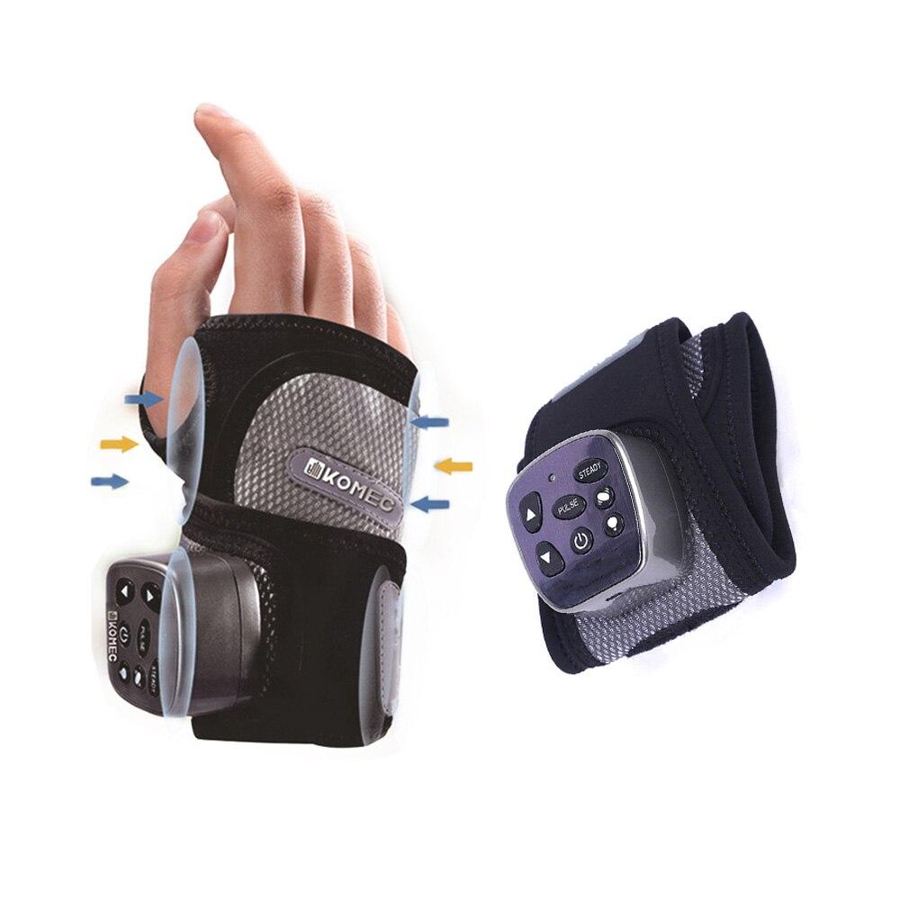 Vibración terapia física calentamiento masajeador de muñeca articulación muscular tratamiento de acupuntura y relajación masajeador de manos inalámbrico salud-in Abrazaderas y soportes from Belleza y salud    1