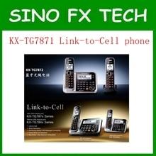 KX-TG7871 DECT 6.0 Link-para-Celular via Bluetooth Relógio Embutido Voz com Sistema de Atendimento de Telefone de Casa Telefone Sem Fio