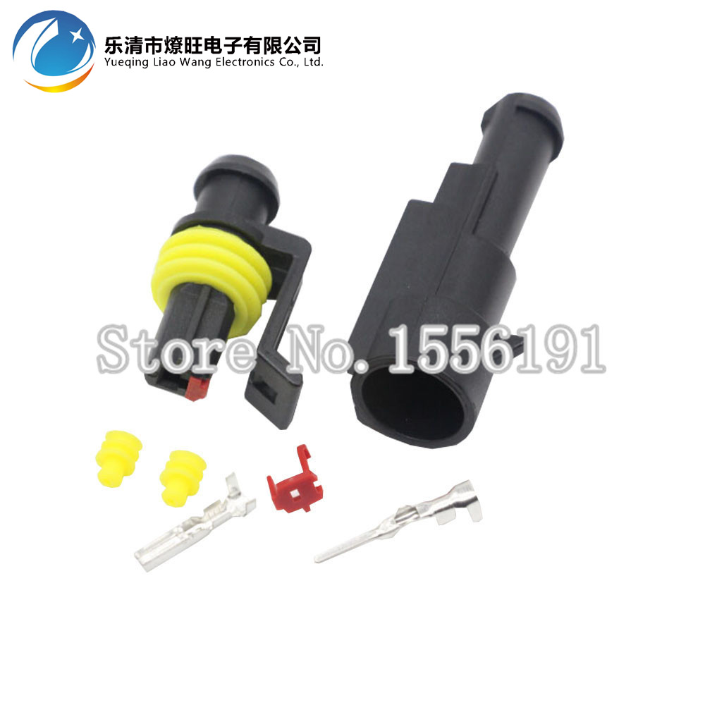 10 Sets 1 Pin AMP 1.5 Connectors,DJ7011-1.5 Waterproof Electrical Wire Connector Plug, Xenon lamp connector Automobile Connector 10sets kit bleed valve connector natural gas connector 13602619 1j0 973 702 waterproof auto 2pin connectors