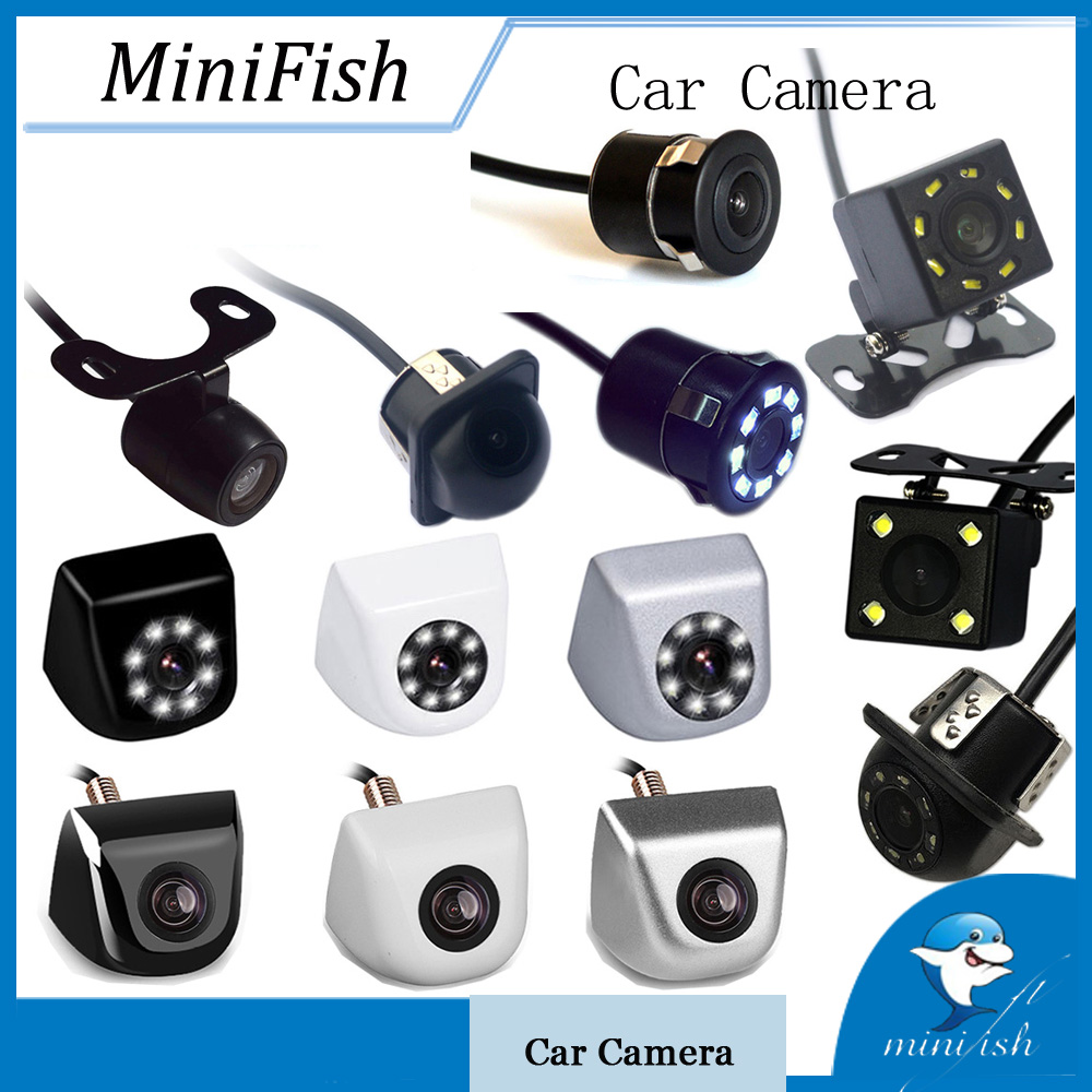 Universal Backup Parking Camera 8 LED Night Vision Waterproof 170 Wide Angle HD Video Car Rear View Camera