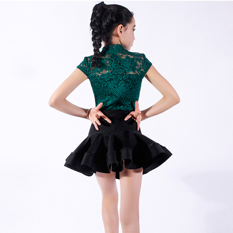 dance dress for girls dance costumes kids clothes for dancing latin dress fringe lace latin party dresses red salsa dance wear