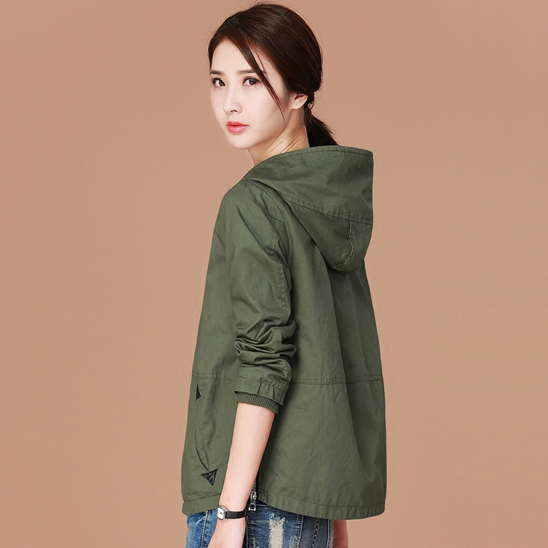 Casual jacket women short paragraph 2019 new spring and autumn korean version of the simple wild