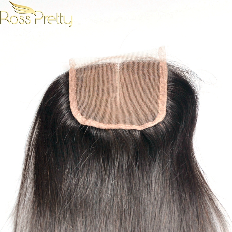 Ross Pretty Hair Lace closure human hair Brazilian Remy Hair Straight Middle part and 3Part Fast Delivery 2-4business days