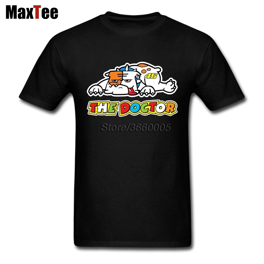 The Doctor Rossi VR46 Bulldog Tees Shirt Men Homme Custom Short Sleeve Big Size Team Mot ...