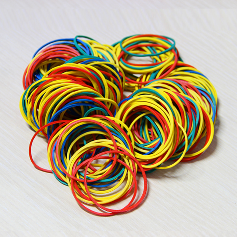 100 Pieces/Pack Colorful  Nature Rubber Bands 38 Mm School Office Home Industrial Rubber Band Fashion Stationery Package Holders(China)