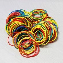 100 peças/pacote colorido natureza borracha bandas 38 mm escola escritório casa anel industrial banda de borracha papelaria pacote suportes