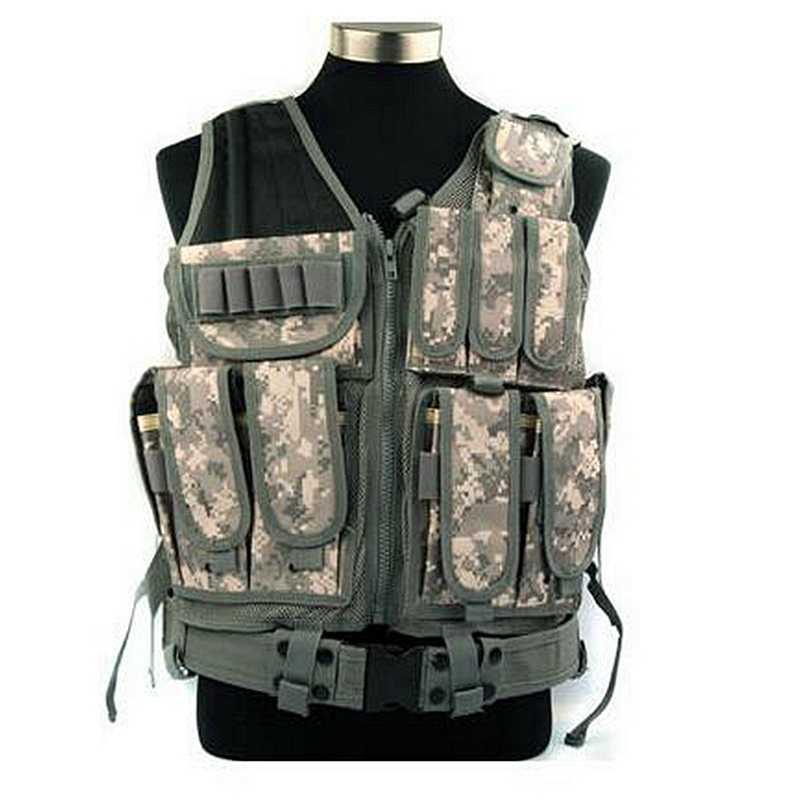 كبيرة العسكرية Beathable رخوة التكتيكية سترة Cs إمدادات حقل في الهواء الطلق القتالية صدرية تدريب W/بندقية الحافظة حزام AK ماج الحقائب