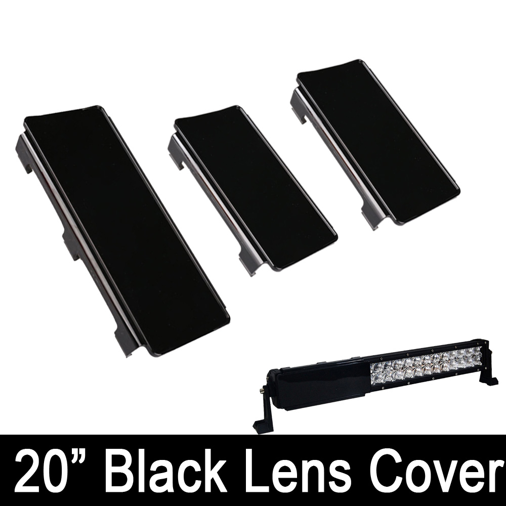 20 inch LED Light Bar Snap On Black Protective Lens Cover 2x 6'' + 1x 8 For 20-22'' 120W Offroad 4WD Trucks Boat Jeep ATV SUV