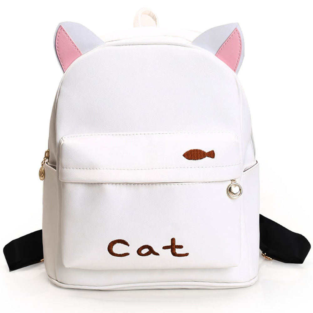 Bags for high school students - 2017 New Japanese Cute Cartoon Animals Shape Backpack School Bags For Girls Larger Capacity Pu Backpack High School Students Bag