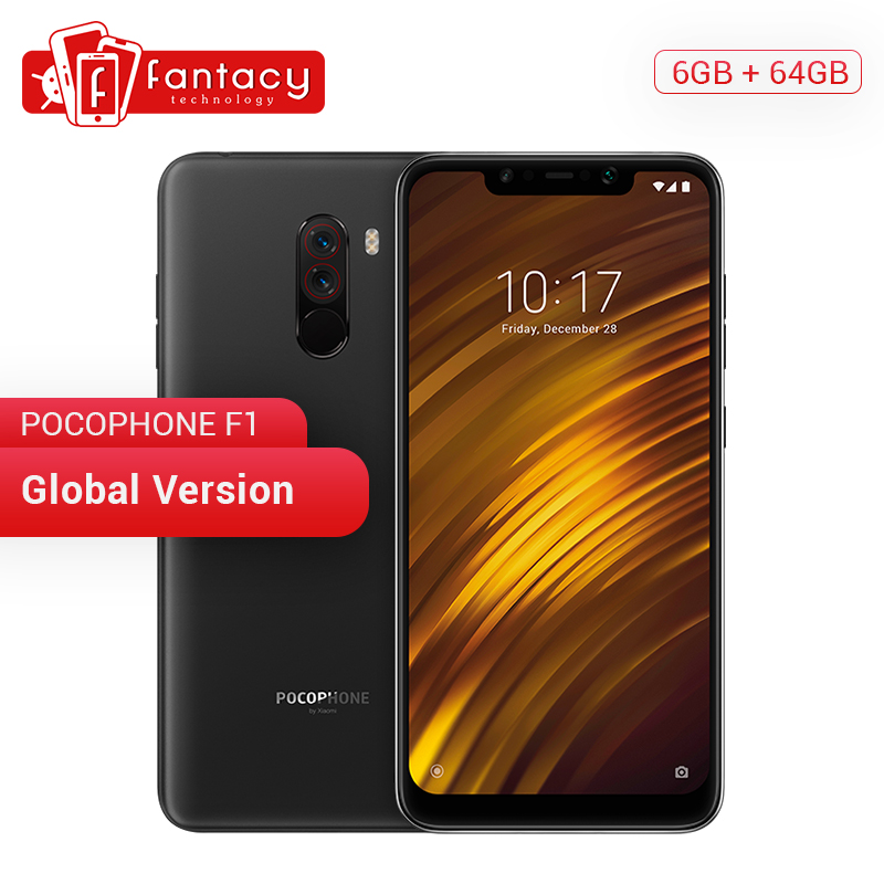 Global Version Xiaomi POCOPHONE F1 POCO 6GB 64GB Snapdragon 845 6.18