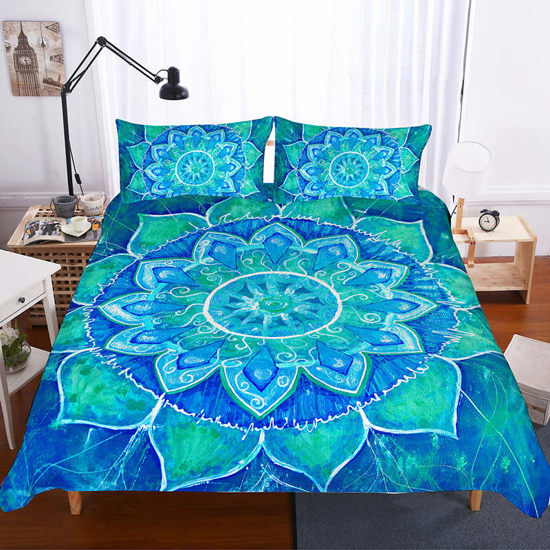 Fanaijia 3d Mandala Bettwäsche Set Königin Größe Boho Bettbezug