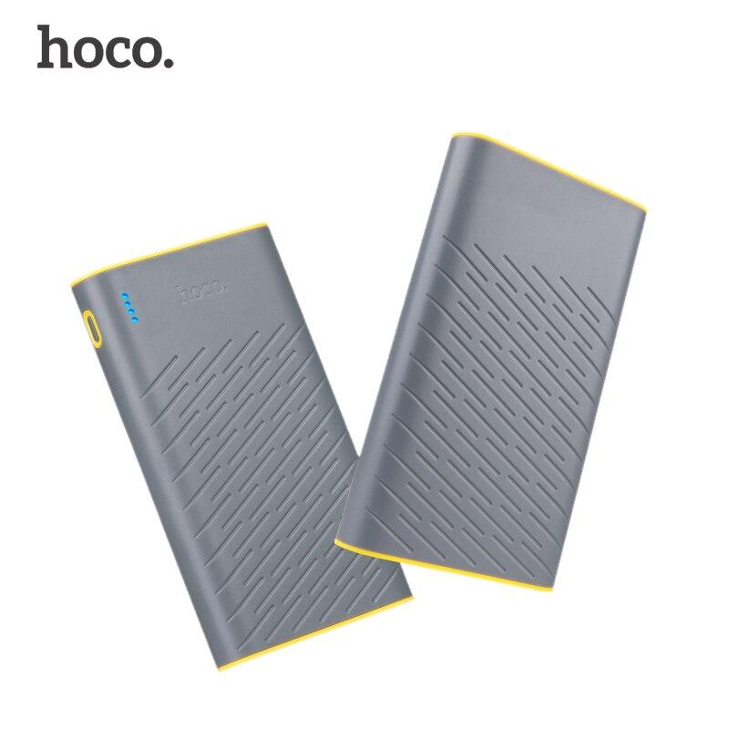 bilder für HOCO B18 20000 mAh 18650 Energienbank Portable Dual USB 5 V/2.1A Handy Ladegerät Externe Batterie Für iPhone Xiaomi Power