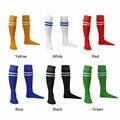 1 par 54 cm elástica de deporte fútbol béisbol rayas de calcetines de la rodilla Knee Legging medias de fútbol sobre la rodilla tobillo de las mujeres de los hombres calcetín senderismo manguera