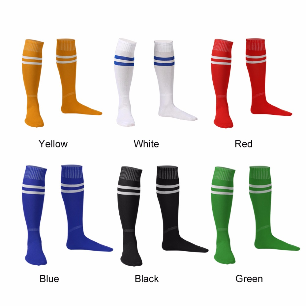 1Pair 54cm Elastic Sport Baseball Football Striped Socks Knee Legging Stocking Soccer Over Knee Ankle Men Women Sock Hiking Hose