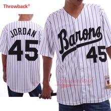hot sale online 7c671 5d9c4 Throwback Men's Birmingham Barons Jersey Michael Jordan ...