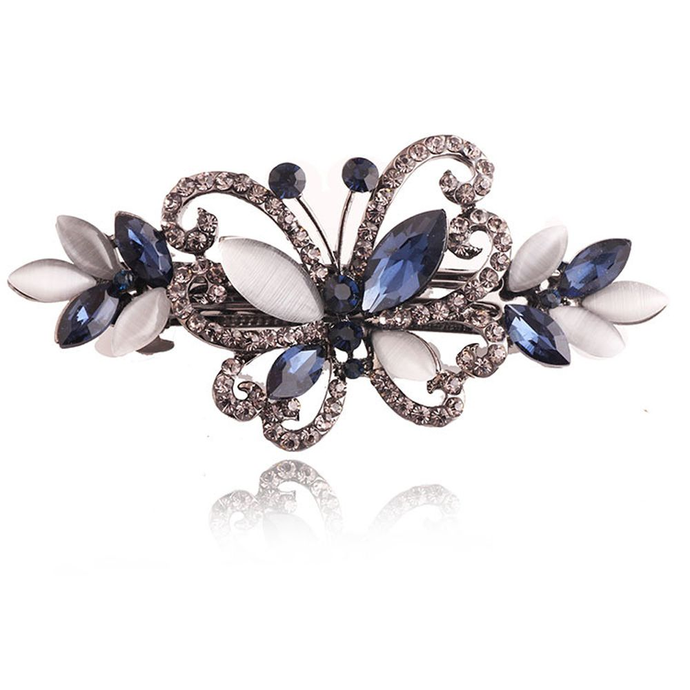 1 PCS Opals Crystal Butterfly Hair clip Rhinestone Girls Barrette Hairpin Hair Accessories Hair Jewelry For Women Wedding women headwear gift rhinestone hair claw butterfly flower hair clip 5 5cm long middle size bow hair accessories for girls