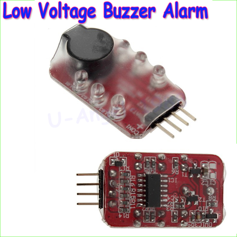 Wholesale 1pcs 7.4V-11.1V 2S-3S Cell Lipo Battery low voltage Alarm Buzzer Speaker LED indicator Dropship rc model 2s 3s 4s detect lipo battery low voltage alarm buzzer