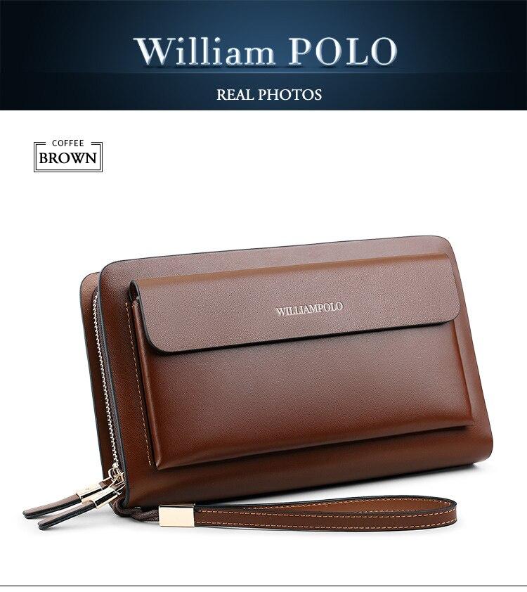 Брендовый Модный высококачественный мужской клатч williampolo