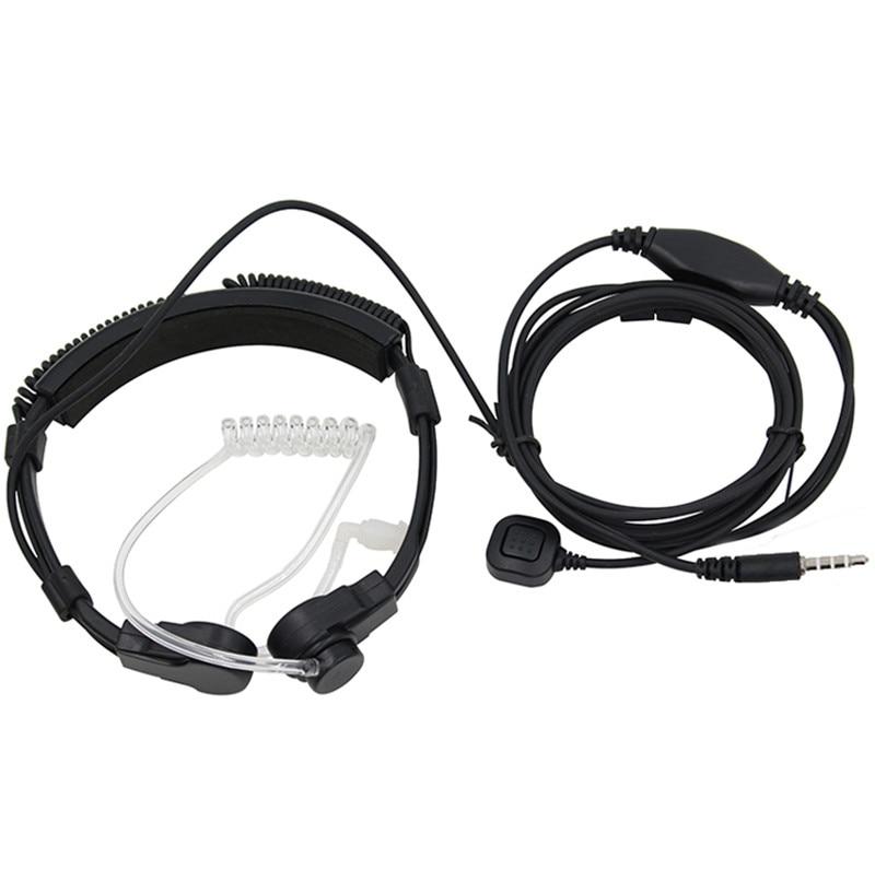 Special Forces Tactical Throat Headphones Radiation-proof Air Conduit Throat Shock Motorcycle Riding Earphones J547