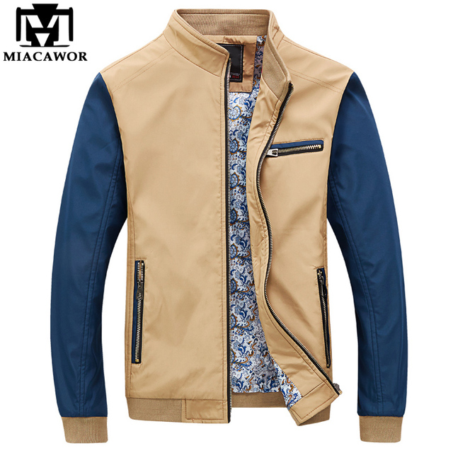 Stand Collar Slim Fit Men's Bomber Jacket 3 Colors