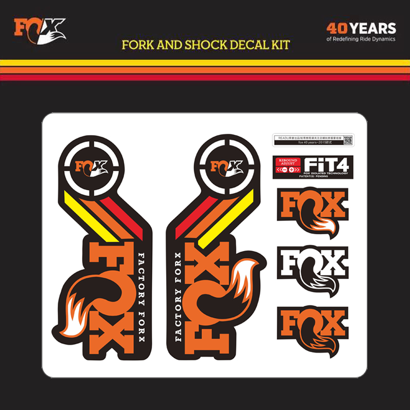 Fox FACTORY 40th Anniversary Special Edition Fork Stickers Decals