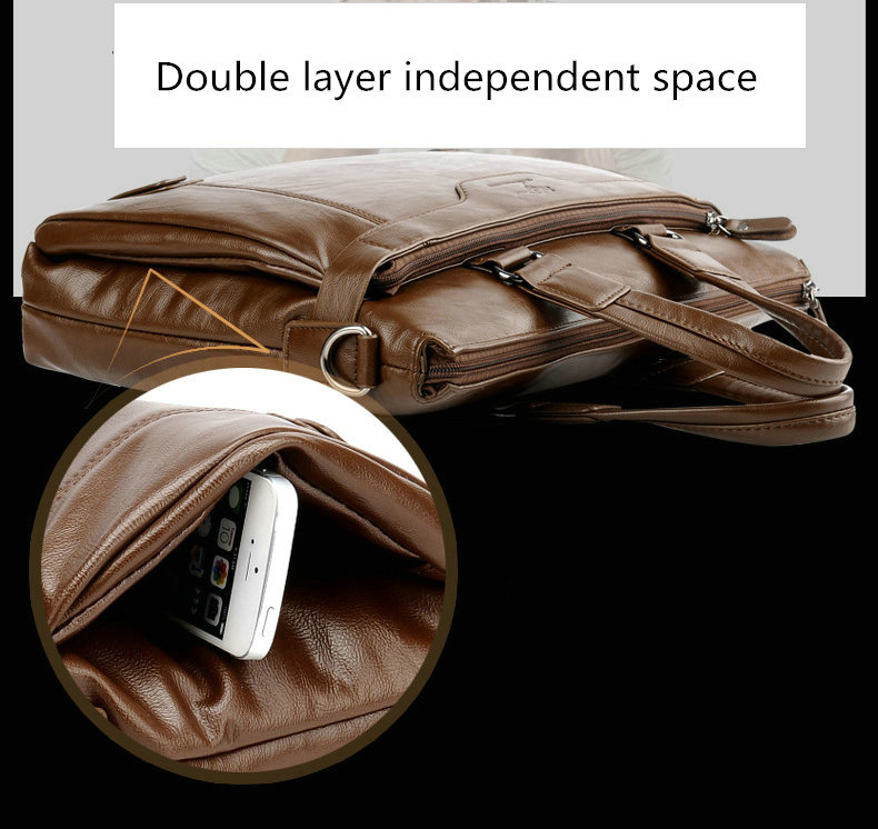 HTB1bC8EelKw3KVjSZFOq6yrDVXaV Cowhide Leather men's Briefcase men laptop male messenger bag Men's shoulder bags briefcases for documents bag
