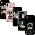 Мусульманское исламское гриль глаза уникальный ПК чехол для телефона чехол для iPhone 5 5S SE 6 6splus 7 8 плюс женские хиджаб лица корона для iPhone X - фото