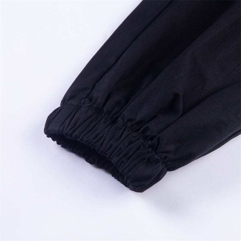 Gothic harajuku zipper streetwear women casual harem pants with chain solid black pant cool fashion hip hop long trousers capris 16