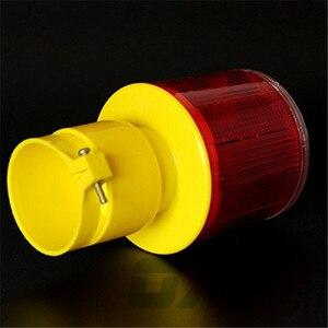 Image 5 - ソーラー警告灯 led 安全信号ビーコン警報エネルギーランプソーラー交通タワーストロボ赤イエロー緊急ライト