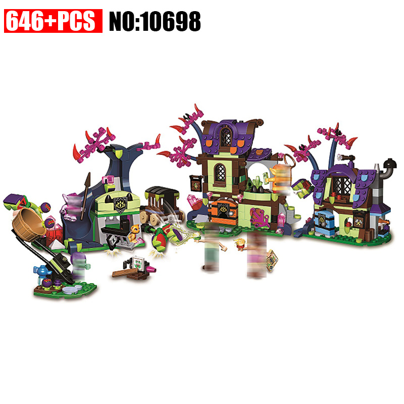 10698 Elves Magic Rescue from the Goblin Village Building Blocks kids Bricks toys Christmas Gift Compatible With 41185 for Girls the rescue
