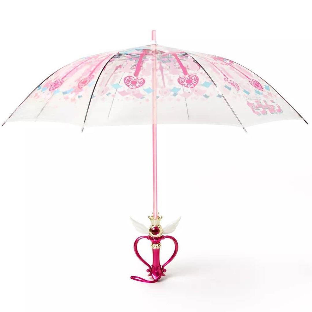 New Sailor Moon Magic Stick Umbrella Second Generation Clear LED Light Transparent Umbrella Cosplay Props Girls