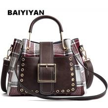 купить New High Quality PU Leather Women Bag Shoulder Bags Plaid Handbag Large Capacity Metal Top-handle Tote Bag недорого