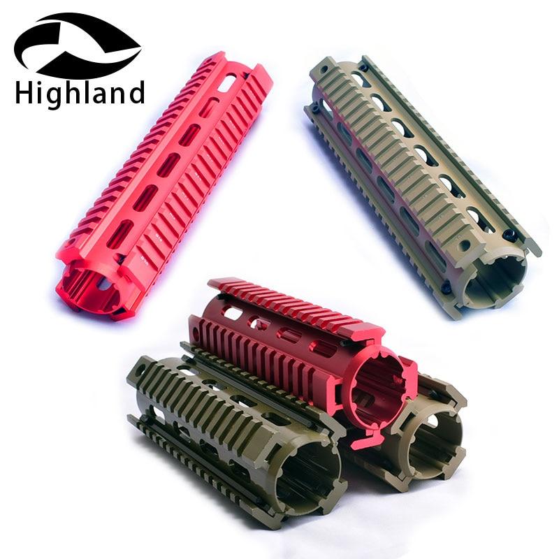 Hunting .223 5.56 Aluminum Rifle Scope Mount 4/7/9inch Free Float Keymod Handguards 2 Piece Drop-In Quad Rail For AR15 M16