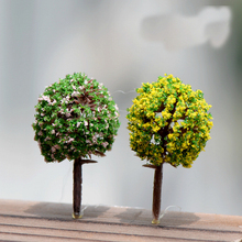 10PCS Mini Garden Decorations Resin Tree Fairy Garden Miniatures Trees Garden Decoration Terrarium Figurines Miniature Figurines
