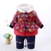 Winter Velvet Warm Kids Clothes Baby Girls Clothing Set Children Clothes Sets Toddler Girl Clothes Fashion