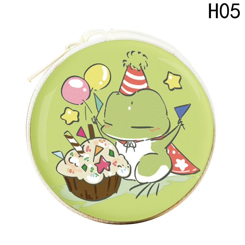 Cartoon Cute Coin Purse Wallet Bags 2018 New Earphone Holders Frog Money Case Frog Style Women Small Tin