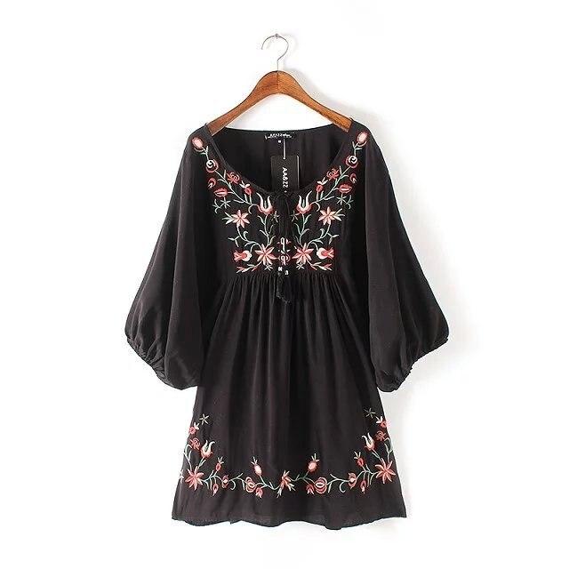 Giapponese Kimono Boho Dell annata Della Boemia Etnico Retro Rockabilly  Cotone Ricamato Tunica di Lino cfad9ddb4f4