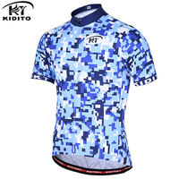 KIDITOKT Cycling Jersey Breathable Quick Dry Mountain Bike Jersey Summer Short Sleeve Men Cycling Clothing Bicycle