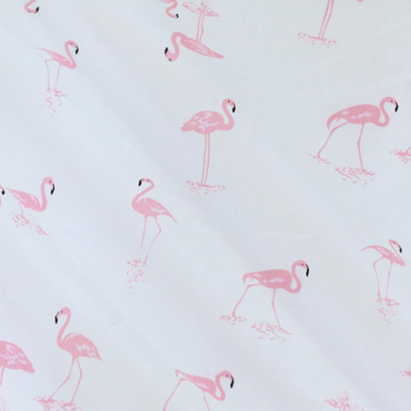 100% cotton twill cloth cartoon PINK white flamingo fabric for DIY kids crib bedding cushions dress quilting handwork textile