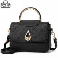 Casual Ladies Bag Fashion Medium Shoulder Bag Famous Brands Women Bags Elegant Luxury Women Leather Handbag