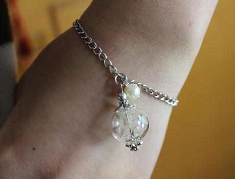 2pcs 16mm Real Dandelion Bracelet Jewelry Seed