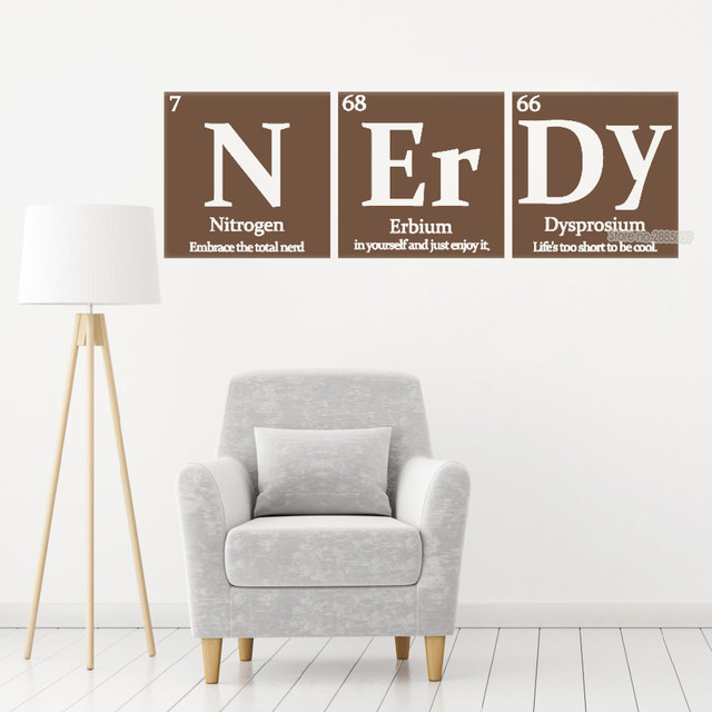 Online Periodic Table Of Elements Series Combination Wall Stickers Nerdy Vinyl Decal Study Room Decoration Chemical Lc440 Aliexpress