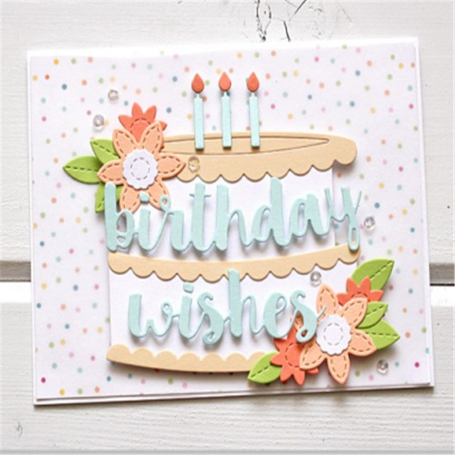 Hemere Creative Assemble Birthday Cake Frame Metal Steel Cutting ...