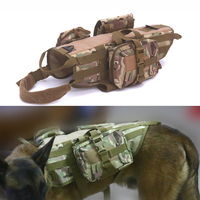Tactical Dog Vest for Walking Hiking Hunting Military Waterproof MOLLE Training Harness for Service Dog