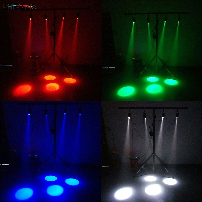 SHEHDS White Body LED Spotlight 6W Red/Green/Blue/White/Violet Color Lighting For Home,room, Dance Hall, Small Performance